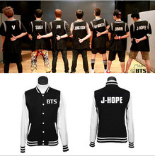 BTS Kpop Bulletproof Cadet SUGA / JIMIN / V JUNGKOOK J HOPE Rap Monster Baseball Jacket Tracksuit Unisex BTS Sweatshirt
