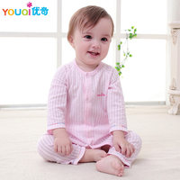 YOUQI 2Pcs Unisex Baby Clothes Summer Fall Baby Boys Clothing Set Girls Top Pants Suit Toddler