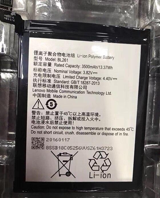 Jinsuli Ersatz 3500 mAh Neue Handy-akku BL261 Für Lenovo Musik Lemon K5 Hinweis K52t38 K52e78 Moblie Telefon