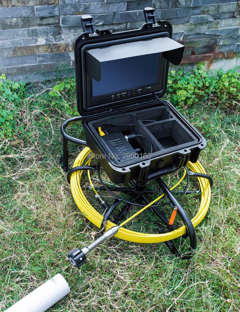 HTB1P8GmXJjvK1RjSspiq6AEqXXa8 - Pipe Sewer drain air duct underwater underground plumbing Inspection Camera 9inch LCD monitor 23mm camera head 12pcs LED lights