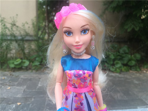 """Image 2 - Figuras de acción de los descendientes de Disney, muñecos de juguete sueltos, con bola de luces de neón, 11 """"/28cm, Ally Auradon Prep"""