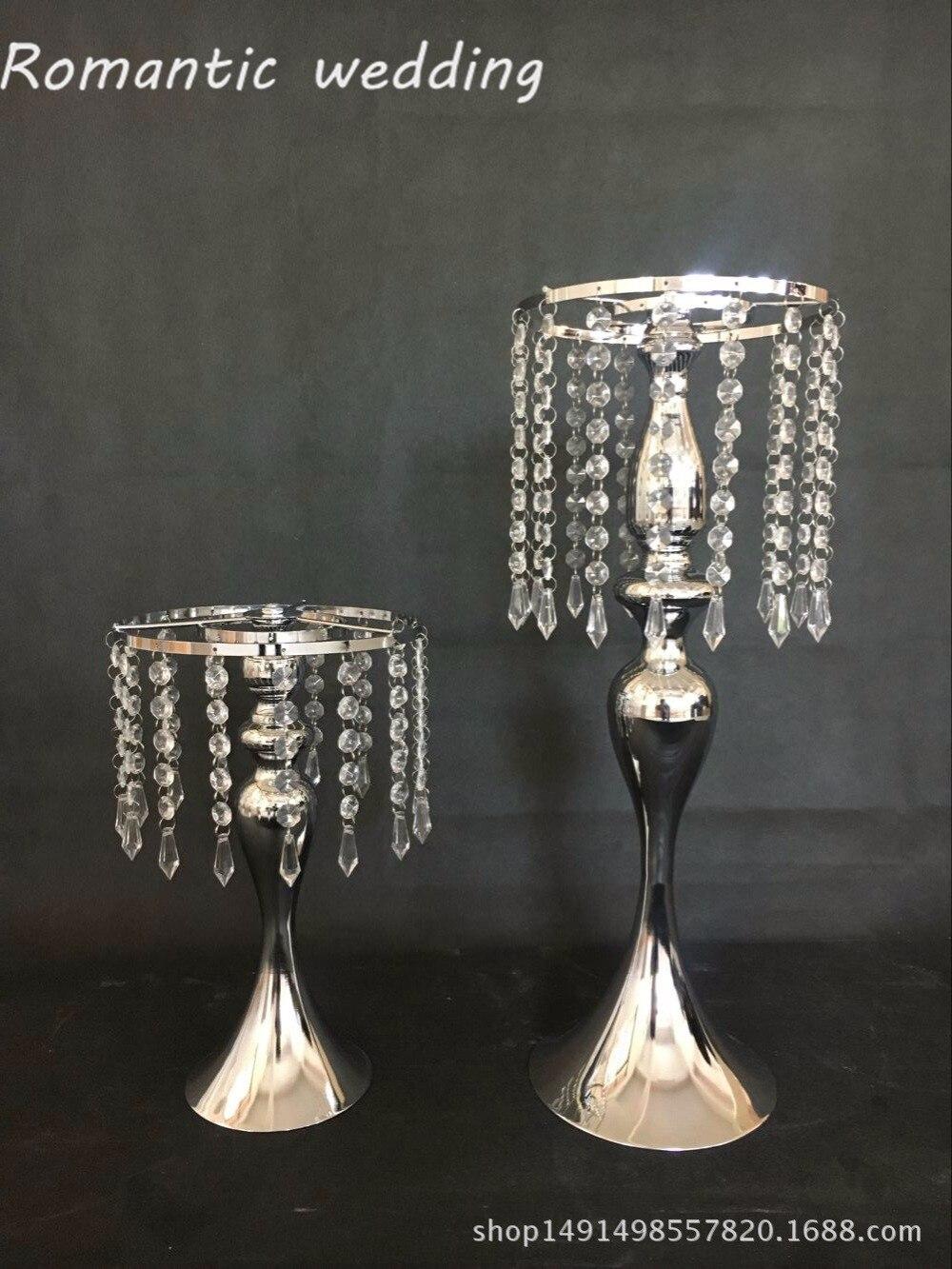 Livraison gratuite 10 PCS/lots acrylique métal or chandelier fleur stand pour décorations de mariage événement produits décorations de fête