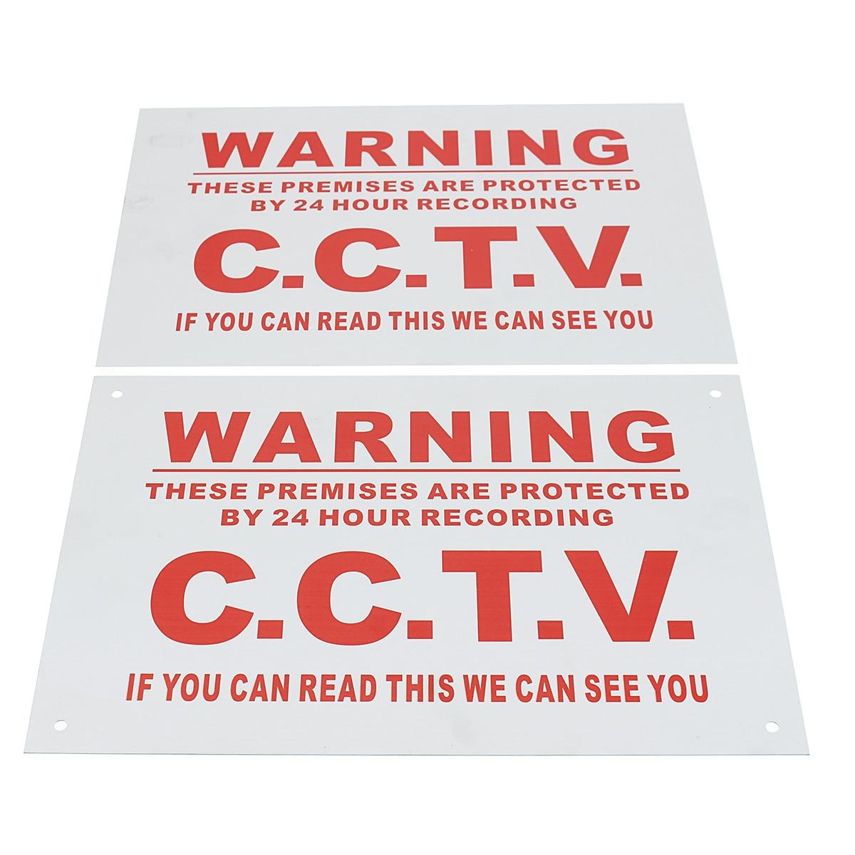 1 шт. A4 Предупреждение 24 часа CCTV мы видим, вы из металла Стикеры безопасности знак белый