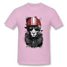 Jungle Rider Pink T Shirts Punk Gothic Rock Cool Tshirts Mens Moto & Biker Tops Tees Summer 2018 New Arrival T-Shirt Man