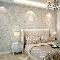 American Village Pastoral Floral Stuffed Non Wovens Wallpapers Living Room Bedroom TV Walls Wall Papers Papel