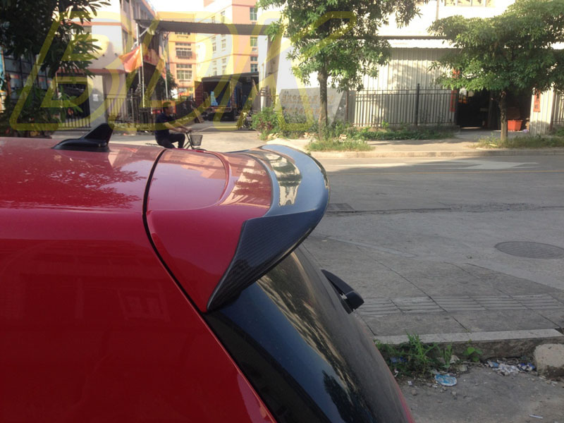 Vw R20 Roof Spoiler Carbon Fiber Rear Wing Cf Golf6 Gti