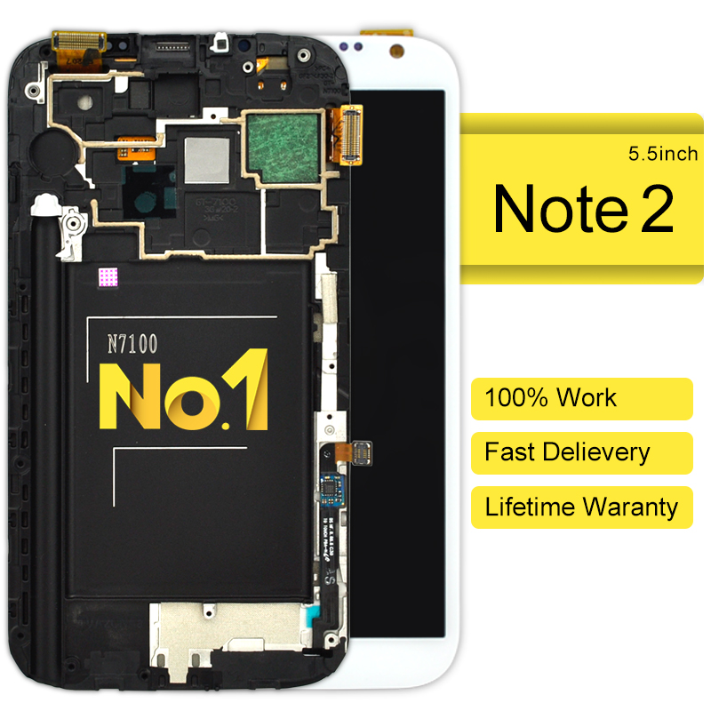 Dhl 10 unids Asamblea Lcd piezas del teléfono Móvil Para Samsung N7100 Nota 2 Co