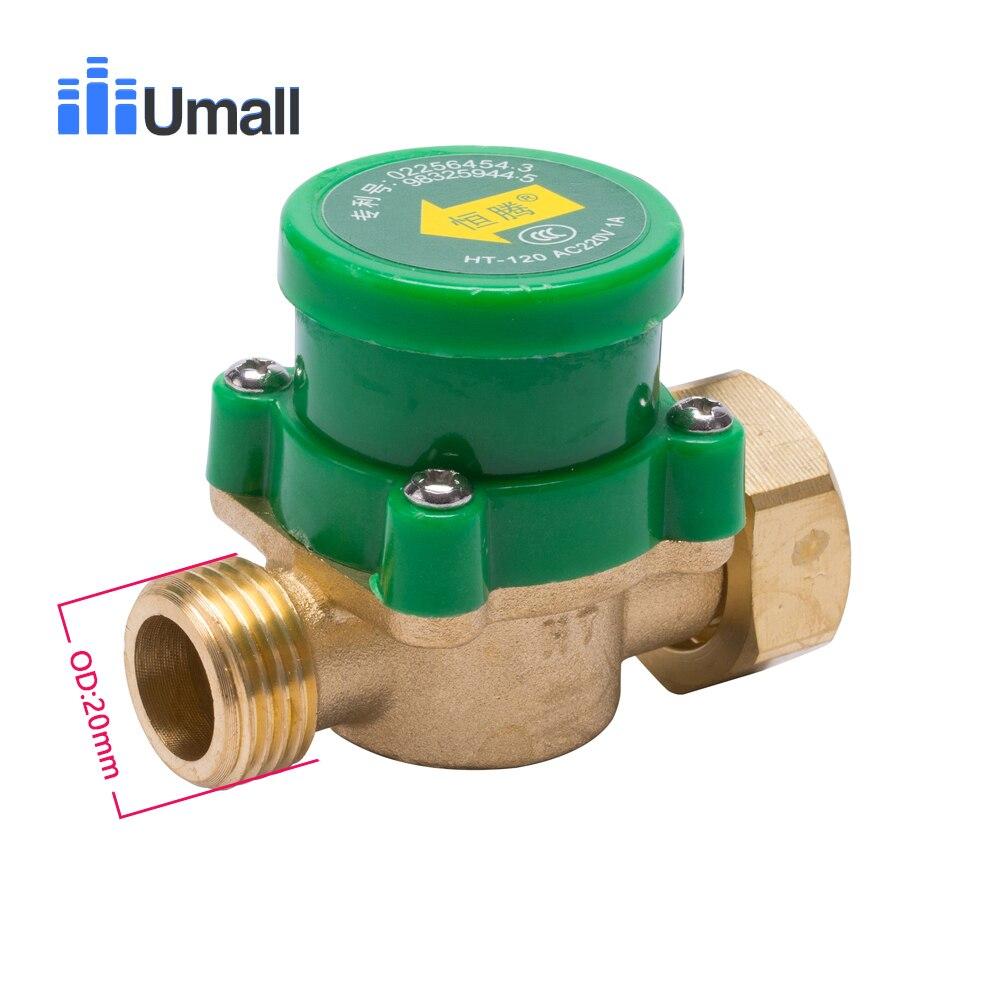 "26mm 3//4/"" PT Thread Connector 120W Pump Water Flow Sensor Switch N4M1"