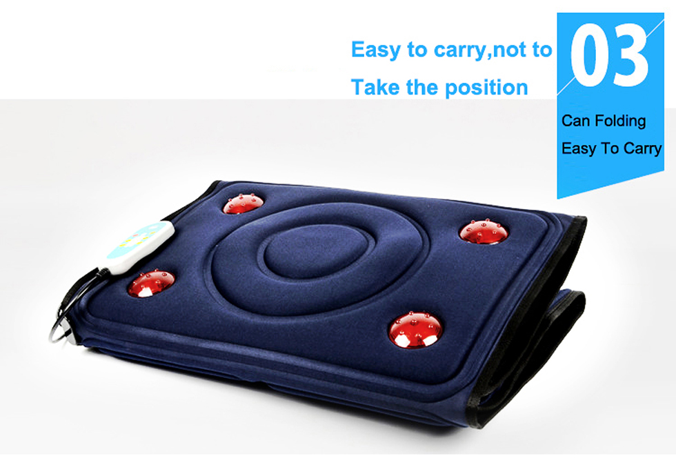KLASVSA Electric Vibrator Massager Mattress Far-Infrared Heating Therapy Neck Back Massage Relaxation Bed Vibrador Health Care 11