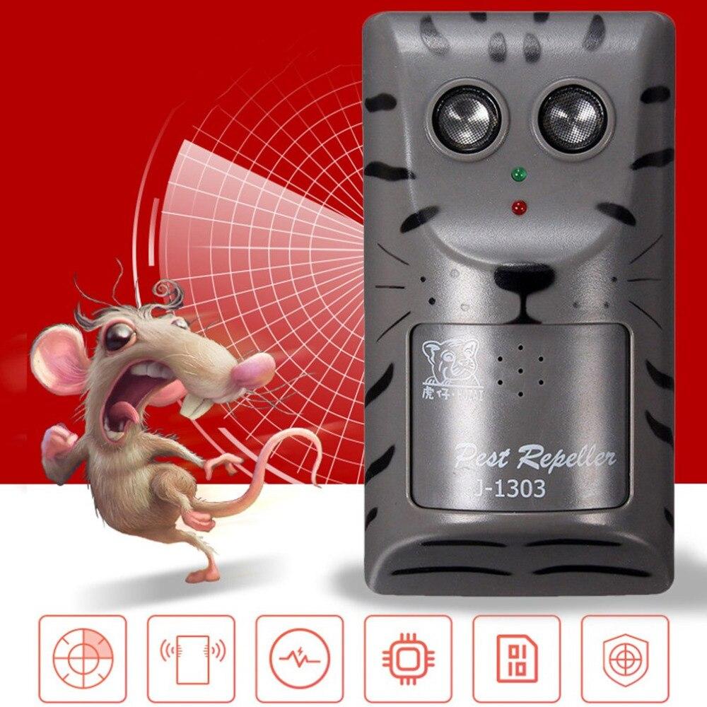 Практичный Дизайн бытовой двойной Электронный ультразвуковой Борьба с вредителями Отпугиватель Мышь насекомых Отпугиватель грызунов инструмент