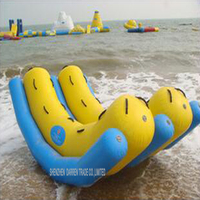 1PC 2016 New outdoor water inflatable poppled double row poppled platen Water Sport Play Equipment [For 6 Players]