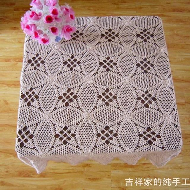 Delicieux Free Shipping Cotton Crochet Dimond Tablecloth Handmade Crochet Table Cloth  Square Fashion Cutout Cotton Tablecloth