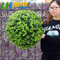 ULAND Artificial Plants Grass Ball Decoration Home Suppermaket Hangings Green Gig Round Grass Ball Home Indoor 18 28 38 48cm