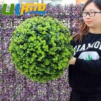 Uland النباتات العشب الاصطناعي الكرة الشنق suppermaket الحفلة جولة الخضراء العشب الكرة منزل الديكور المنزل داخلي 18 28 38 48 سنتيمتر