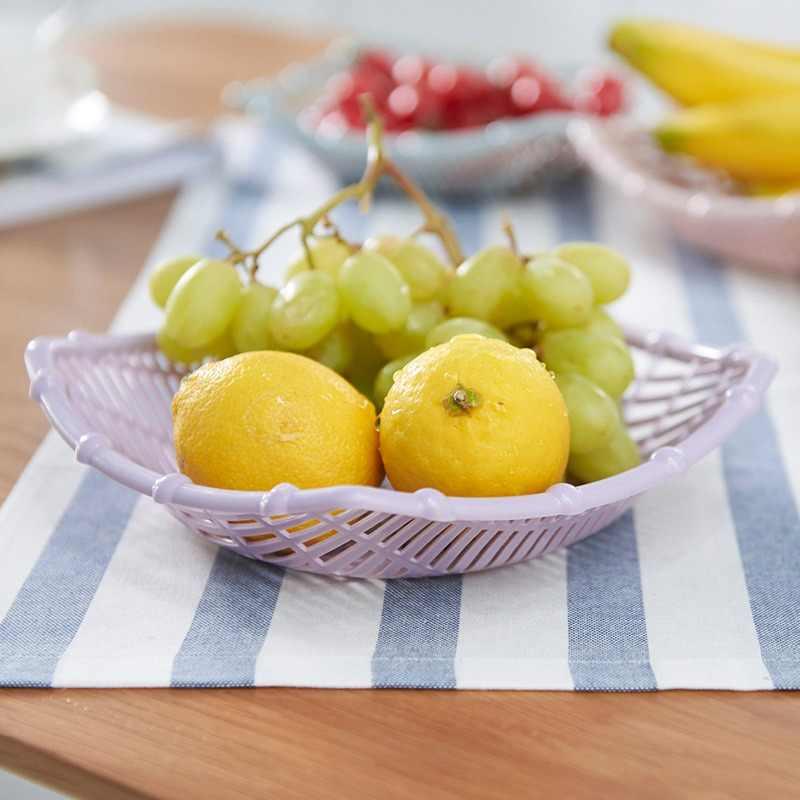 Hoomall Obst Platte Snack Tablett Süßigkeiten Lebensmittel Lagerung Korb Kreative Küche Gemüse Korb Lagerung Körbe Rattan Obstkorb