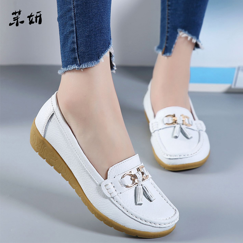 Women Ballet Shoes Flats Cut Out Leather Breathbale Moccains Women Boat Shoes Ballerina Ladies ShoesWomen Ballet Shoes Flats Cut Out Leather Breathbale Moccains Women Boat Shoes Ballerina Ladies Shoes