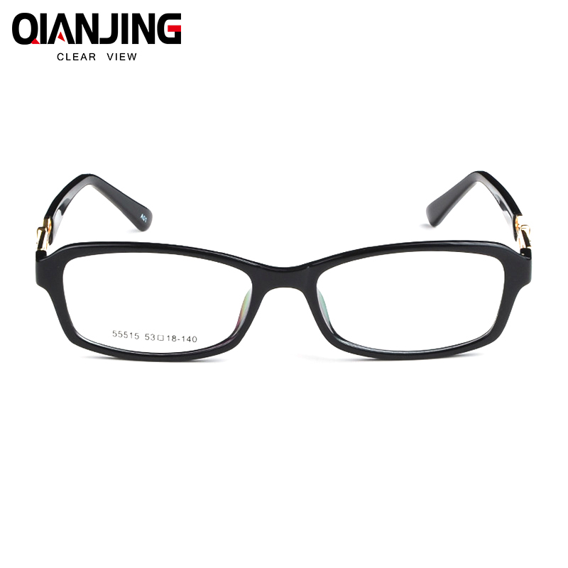 baeb999852 Acetate TR90 Women Female Eyeglasses Full Rim Crystal Optical Frame  Prescription Plain Clear Elegant Eye Glasses 55515 Tortoise-in Eyewear  Frames from ...