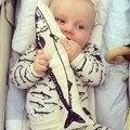 Branco Mini Forma Tubarão Favorito da Criança Recém-nascidos Do Bebê Do Algodão Travesseiro Posando Travesseiro Cama Criança Pescoço Do Bebê apaziguar As Crianças das bonecas