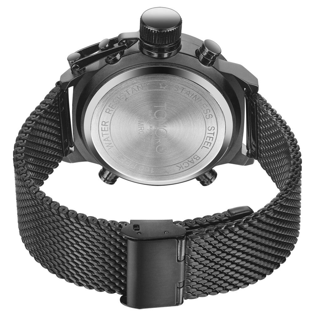 9733da40671 2017 New Brand Fashion Men LED Sports Watches Men s Quartz Clock Man  Milanese Strap Military Army Waterproof Big Crown Watch-in Quartz Watches  from Watches ...