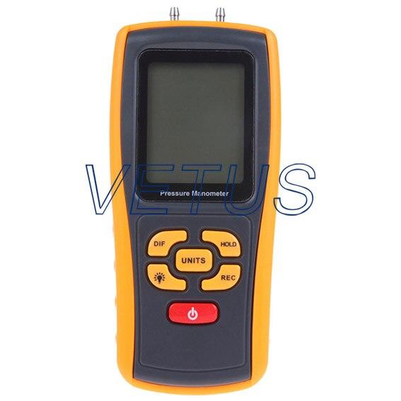 ФОТО GM510 GM-510 Digital Differential Pressure Meter with measuring range -10kPa ~ +10kPa