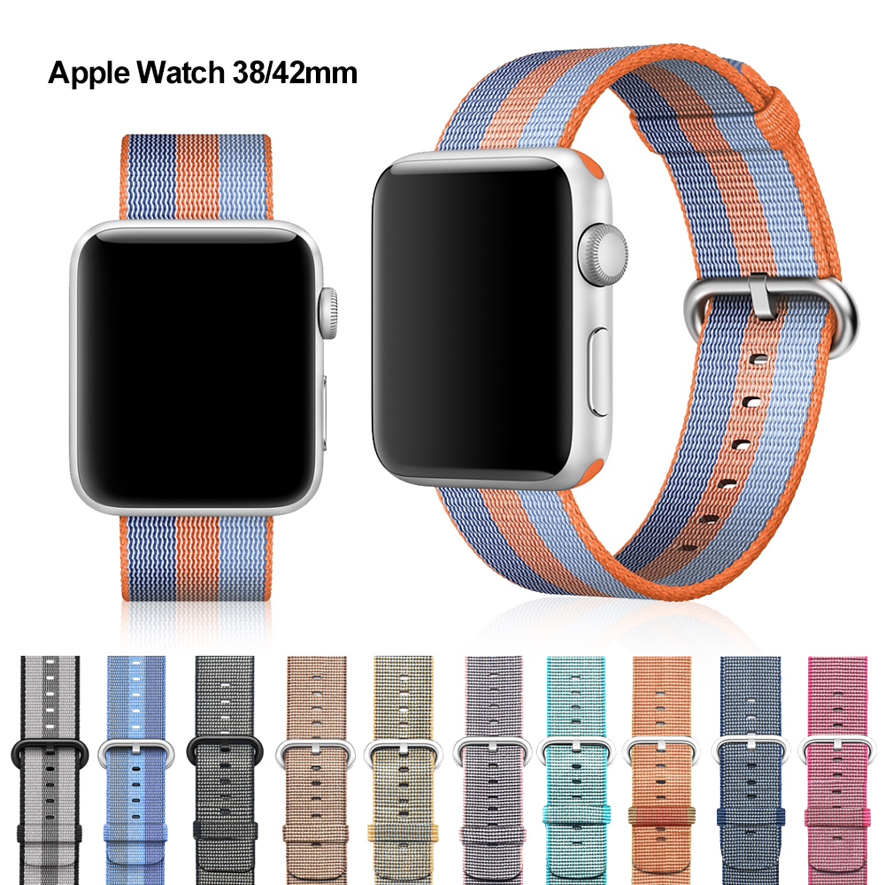 XIYUZHIYI Woven Nylon band strap für apple watch band 42mm 38mm sport armband armband für iwatch band 38mm 3/2/1 schwarz rot