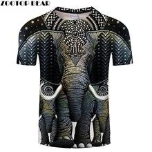 African Elephant,Animal Kingdom,Prairie Lion Pattern Printed 3D Tshirt, 2018 Popular 3D Men t shirt,Summer Men And Women t-shirt
