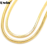 Raw Brass Copper Link Chain Men S 4mm Cool Herringbone Snake Necklace Chain Hiphop Fashion DJ