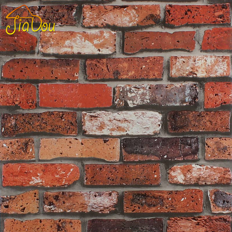 Buy 3d pvc stone brick wall paper for 3d brick wall covering