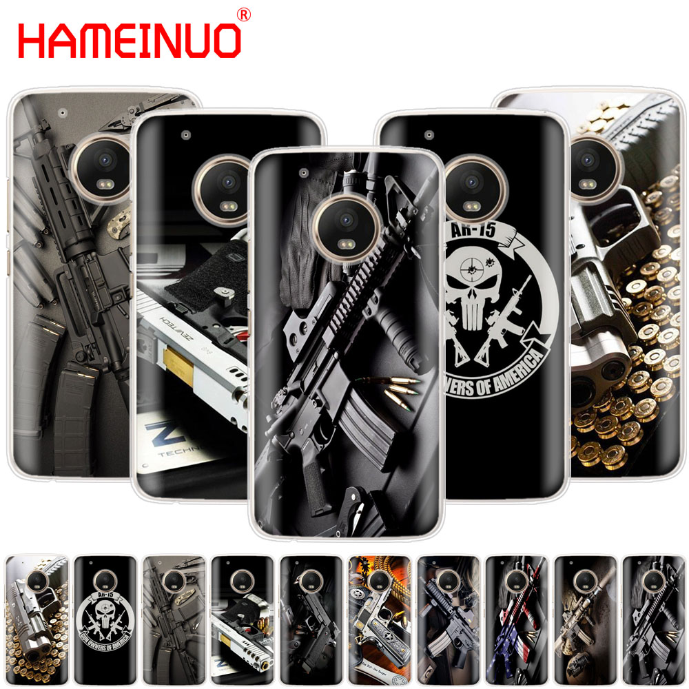 Cellphones & Telecommunications Half-wrapped Case Hameinuo Nice Weapons Rifle Guns Sniper Pistol Bullet Case Phone Cover For Motorola Moto X4 C G6 G5 G5s G4 Z2 Z3 Play Plus Street Price