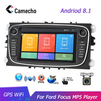 2 Din Car Radio 7 Inch autoradio Camecho Touch Screen Car Stereo GPS WiFi AUX Car Multimedia Player for Ford Focus Mondeo C MAX