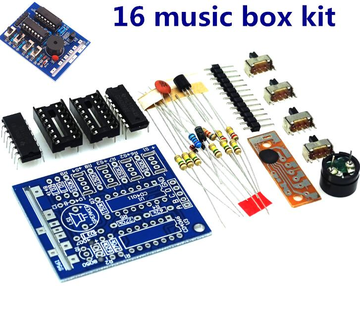 16 Music Box 16 Sound Box BOX 16 16 Tone Box Electronic Module DIY Kit DIY Parts Components Accessory Kits Board|Integrated Circuits|   - AliExpress