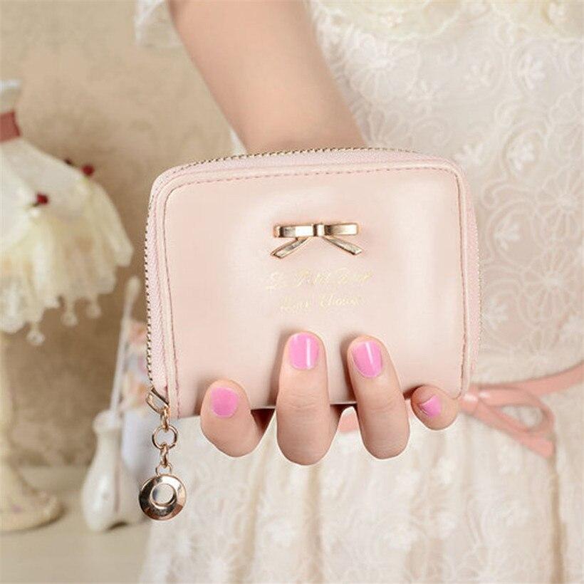 New 2018 women wallets famous brand leather purse for women money clip ladies luxury girl cash purse wallet female coin pocket