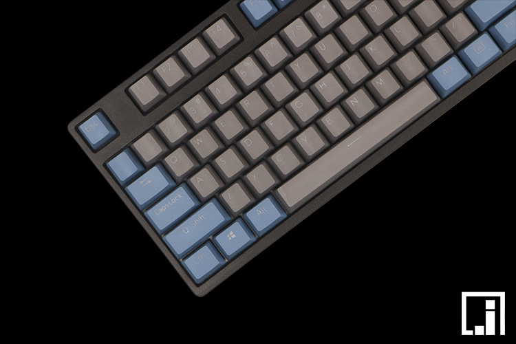 mechanical keyboard backlit white gray retro thick PBT light blue lighting translucent shine keycap cherry mx OEM 87 104 цена