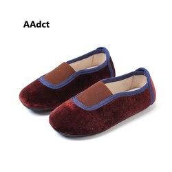AAdct 2019 jesień nowe aksamitne księżniczka mieszkania dziecięce buty mokasyny małe dziewczynki wysokiej jakości miękkie małe dzieci buty dla dzieci