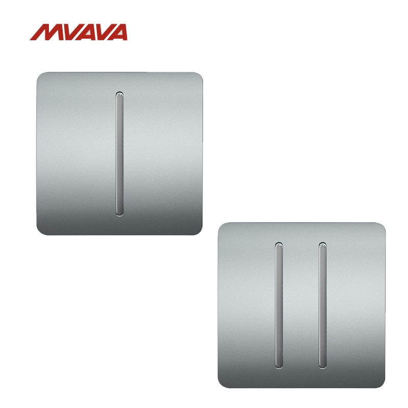 Free Shipping,MVAVA 16A 1 Gang + 2 Gang 2 Way Two Pack Light Switch AC100V-250V Light Control Wall Decorative Luxury Push Button free shipping new fashion carving patterns design electric wall light switch 1 gang 1 way from manufacturer supplier 100 250v m