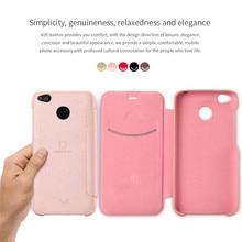 Lenuo for xiaomi redmi 4X leather case ledream series Luxury flip case cover for redmi 4