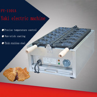 1 PC FY 1101A Electric 110v /220v Taiyaki Waffle grill fish shape waffle maker Six electric Taiyaki,Non Stick Cooking Surface