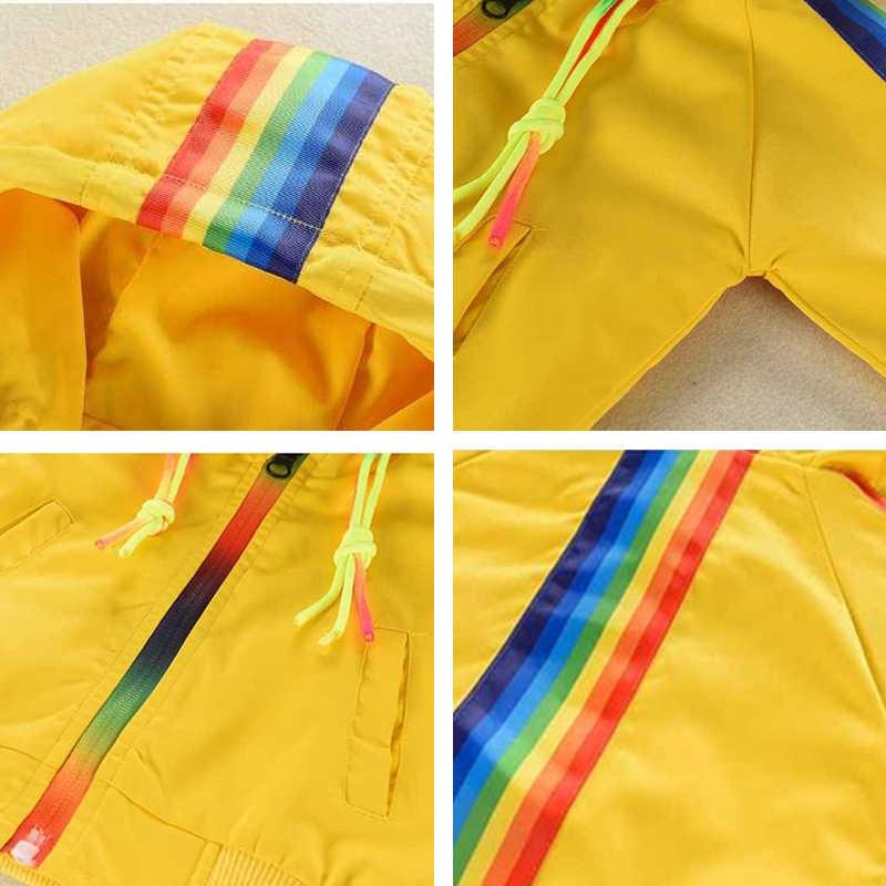 ארוך שרוול מעיל בני בנות ילדים מעיל חדש ילדים של קשת בד 2019 קוריאני ללבוש פעוט מעיל רוח 1 2 3 4 5 שנים גילים
