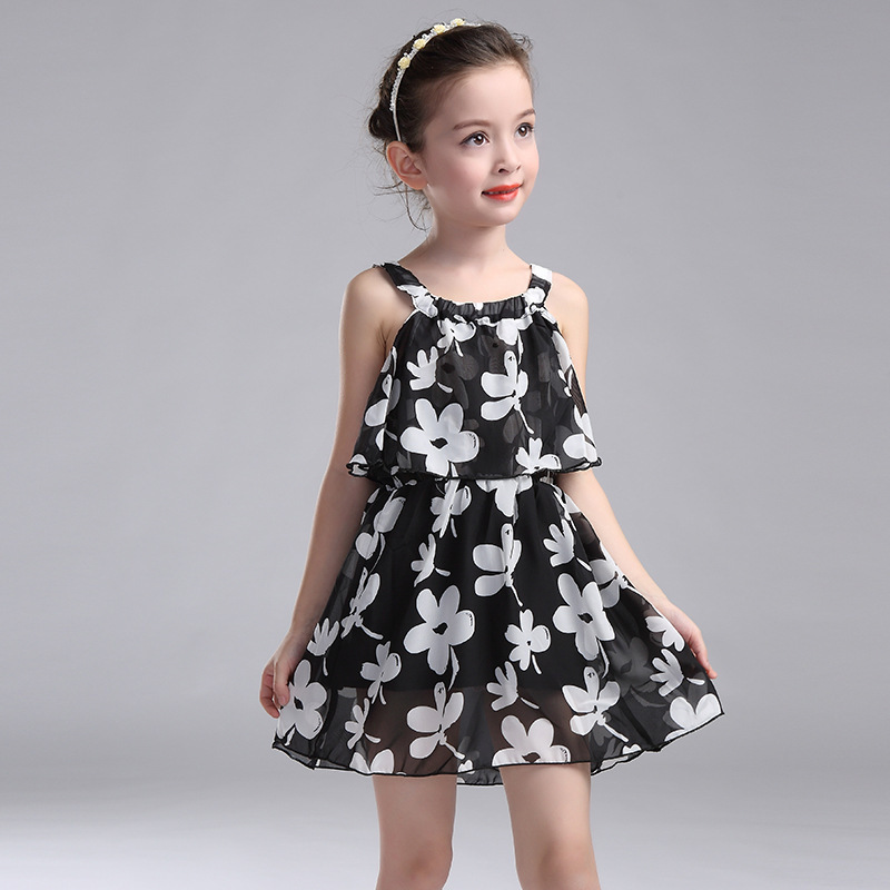 Kids Dresses For Girls Children Clothing 2017 New Year Chiffon Party Dress Girls Floral Summer Sundress 2 3 4 6 8 10 11 12 Years водолазка pettli collection pettli collection pe034ewvwc37