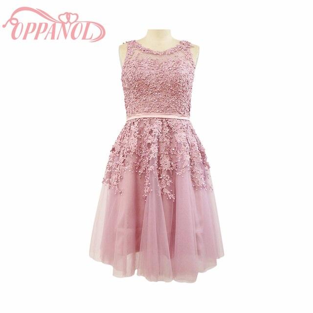 Pink Short Prom Fiesta de Graduación Compromiso de Volver a La ...