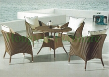 Dining room table set furniture in rattan materials home dining furniture
