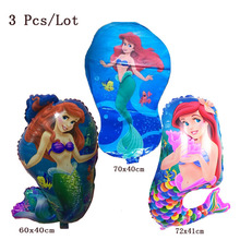 princess balloon inflatable helium foil party decoration supplies toys personalized cartoon little mermaid birhday balloons