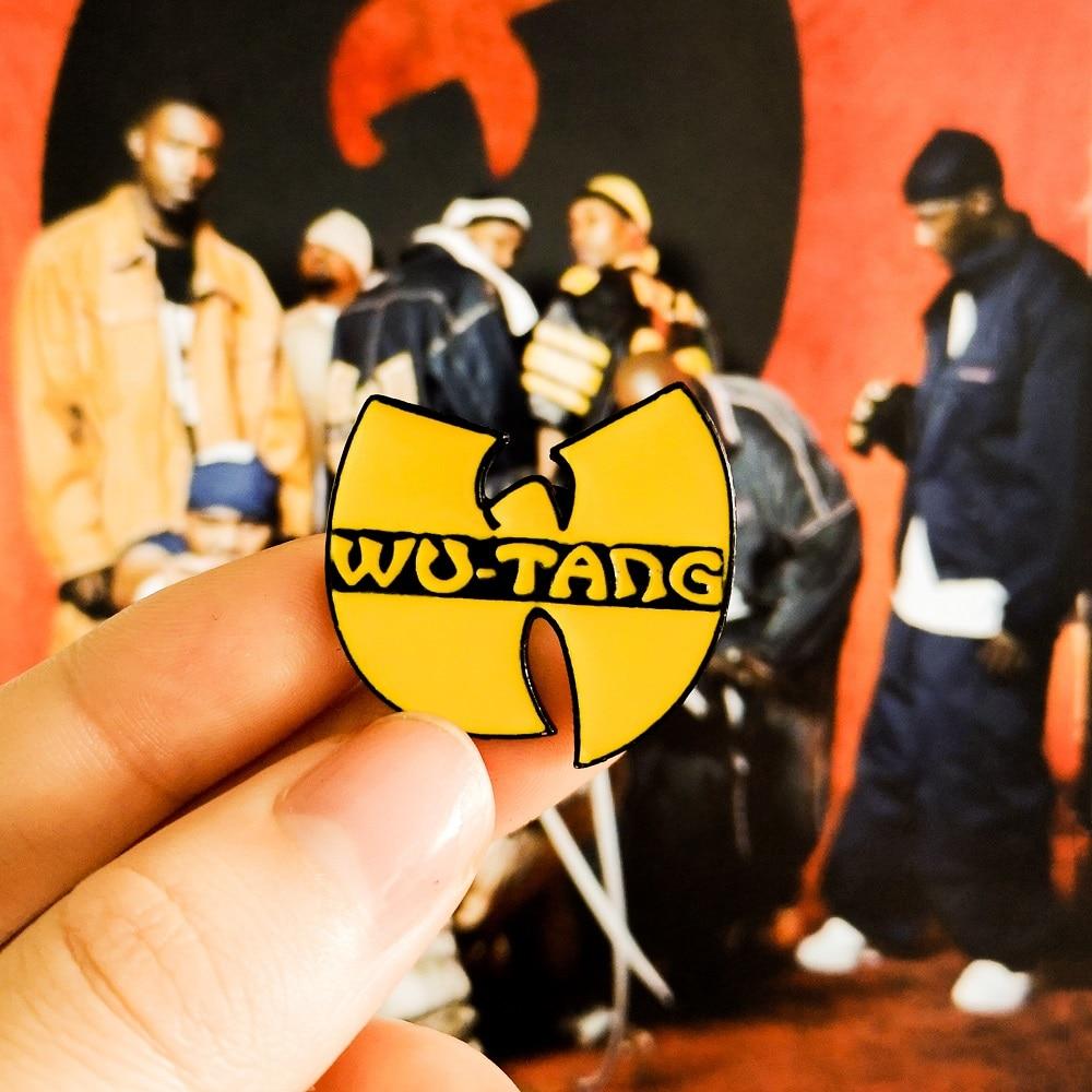 US $1 25 40% OFF|WU TANG CLAN Logo HIP HOP Band Oldschool Rap Enamel Pins  Badges Brooches Denim Shirt Lapel Pin Punk Cool Jewelry Friend Gift-in