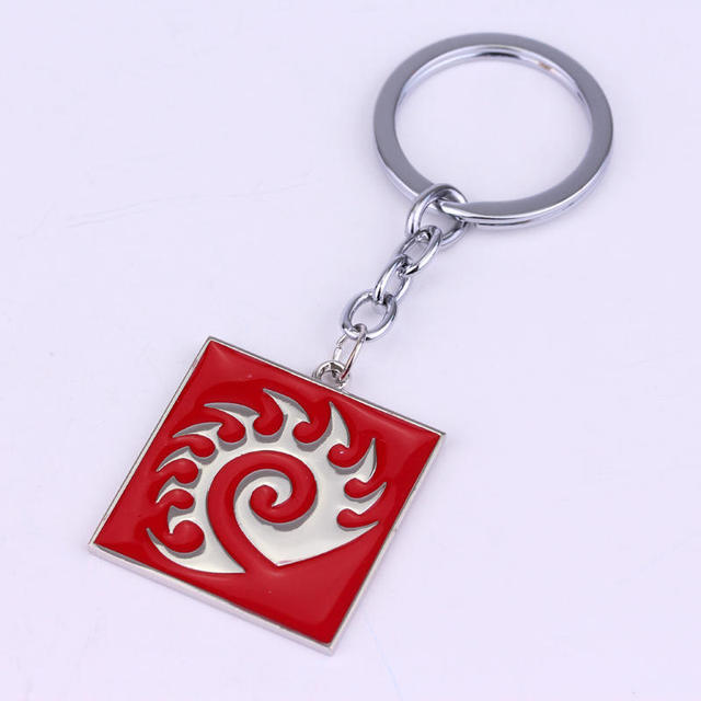 fashion jewelry simple and elegant classic Filmography StarCraft 2 Protoss Terran logo metal keychain free shipping  2