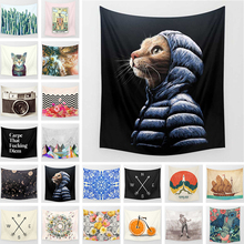 Tapestry Printed Cat Home Decor Wall Hanging Popular Handicrafts  Bed Cover Blanket Table Cloth Yoga Mat Gifts