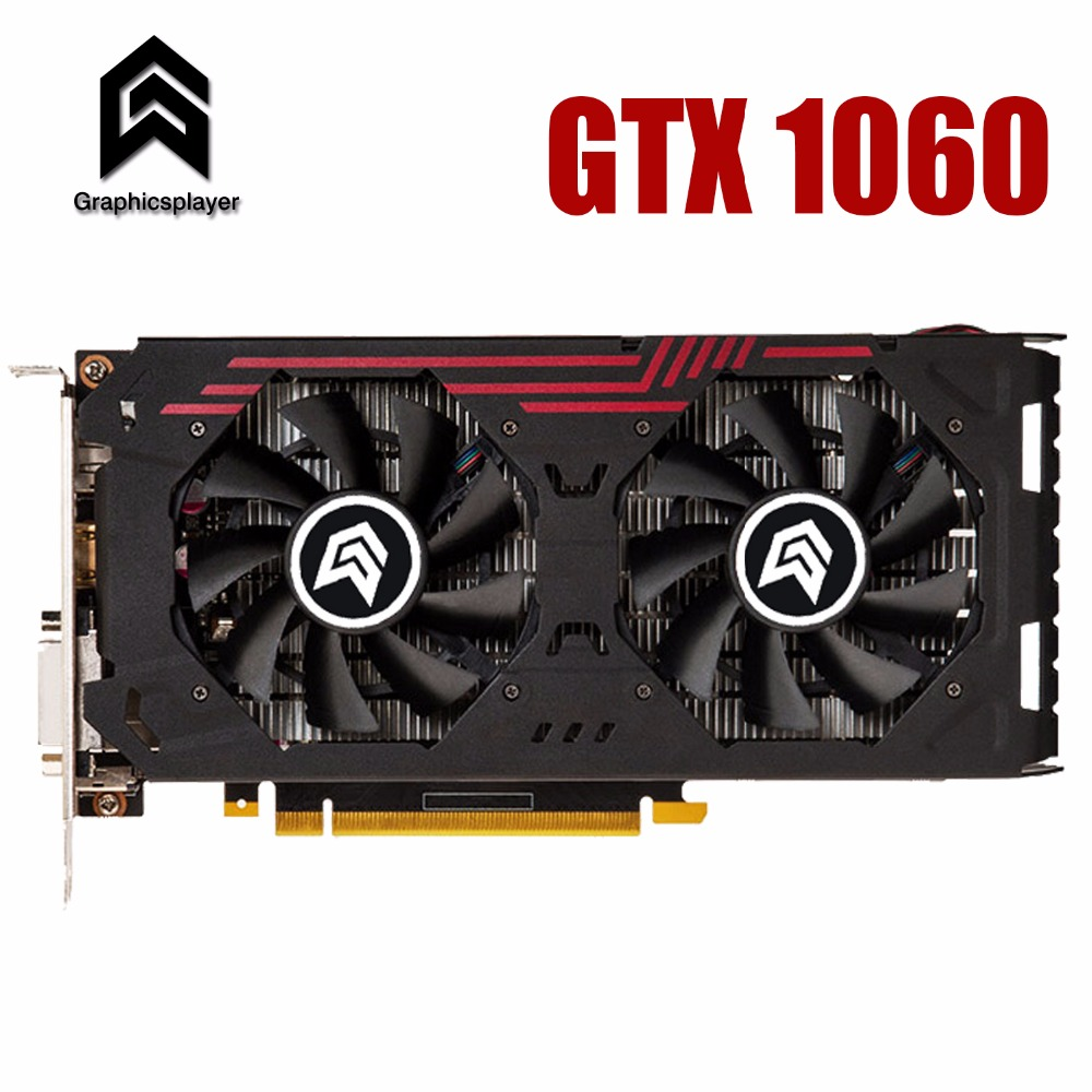 Graphic Card PCI-E 16X 3.0 GTX1060 GPU 6G DDR5 For NVIDIA Geforce Original Chip Computer PC Game  Video Card