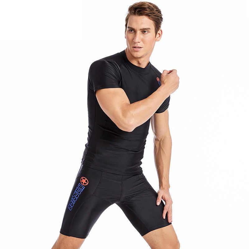 الرجال ملابس السباحة طفح الحرس سريعة الجافة الصيف بدلة غطس الرياضة الغوص السباحة تصفح ثوب السباحة مكافحة الأشعة فوق البنفسجية حجم كبير L-5XL