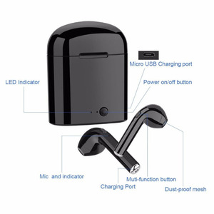 Image 4 - I7 Tws casque sans fil Bluetooth écouteurs double casque Bluetooth casque avec boîtier de charge pour tous les smartphones