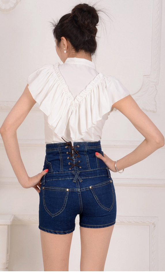 High Waist Jeans Shorts Women New Plus Size 3 4 5 XL Waist Shaping Slim Bodycon Denim Shorts DTY02 in Jeans from Women 39 s Clothing