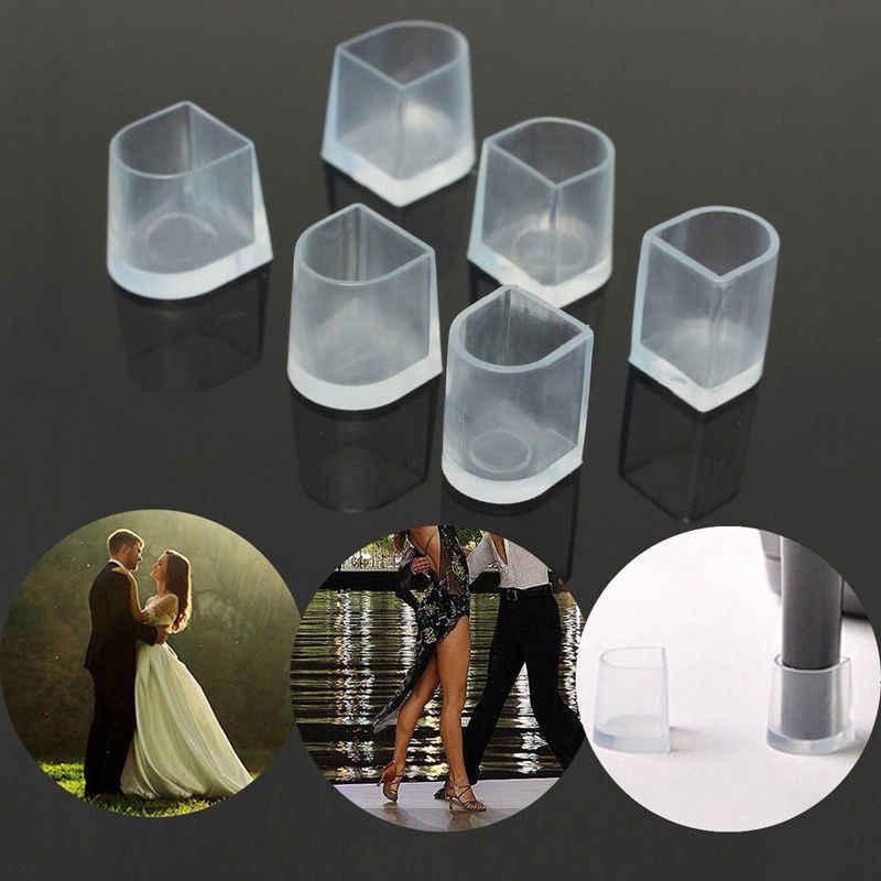 2 זוגות\חבילה גבוהה העקב מגיני לטיני פגיון ריקוד מכסה העקב פקקי נוגד החלקה סיליקון גבוהה Heeler לחתונה נעליים